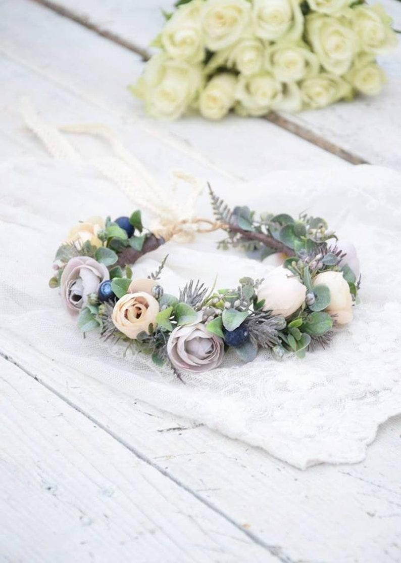 Baby White Headband Flower Girl Headpiece Girls Flower Crown in White Bridesmaid  Wreath Head Piece Girls Crown Photo Prop