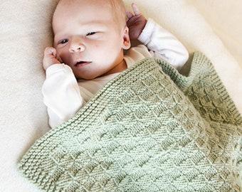 4344ce240d Babydecke aus weicher Merinowolle, in Wunschfarbe handgestrickt