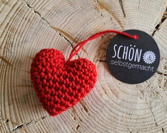 small crochet heart, free choice of color, crochet heart, beautiful and homemade