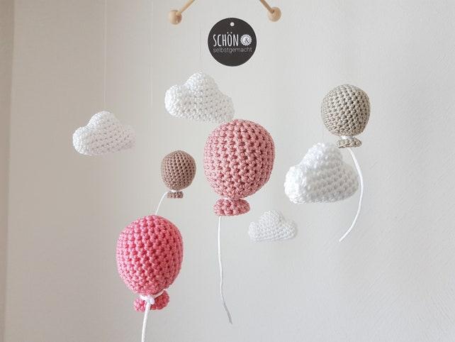 Baby mobile balloon gehäkelt gehäkelte luftballons und etsy