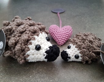 small crocheted hedgehog, free choice of colors, beautiful and homemade