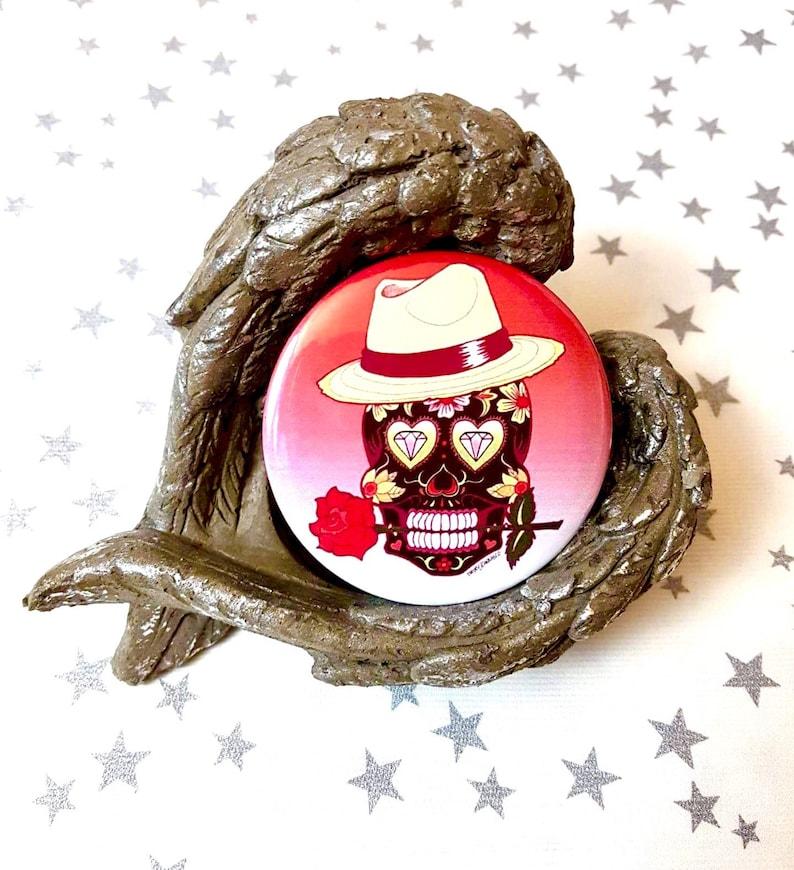 Pocket Mirror Candy Skull