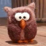 Birthday Owl Christmas color cute dream hand felted fabric owl Ornament season seasonal Table Winter Xmas