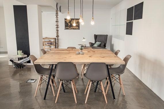 Eettafel bureau van hout tabel upcycling vintage oude houten etsy
