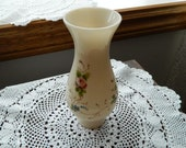 Vintage Glass Hand Painted Flower Hurricane Chimney Lamp Shade