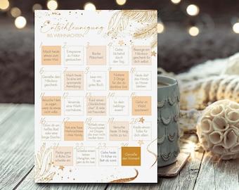 "Advent calendar ""Deceleration until Christmas"" | | postcard A6 | Advent | Gift | calorie-free | Anticipation | Christmas greetings"