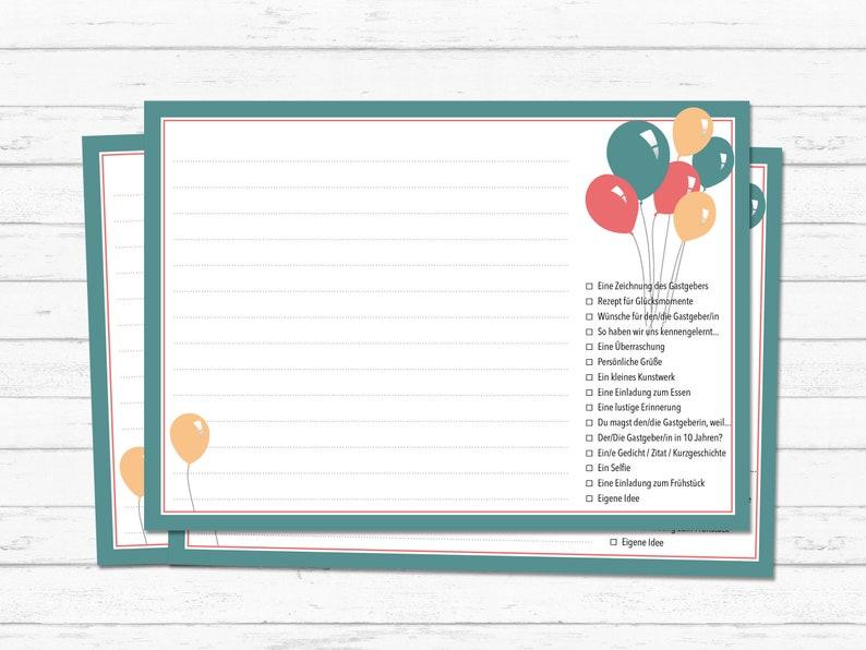 Geburtstagsspiel Postkarten Etsy