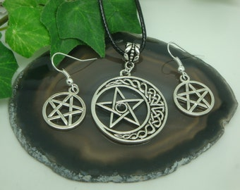 Pentagram pendant with pearl Celtic Wicca Pagan Magic   Etsy