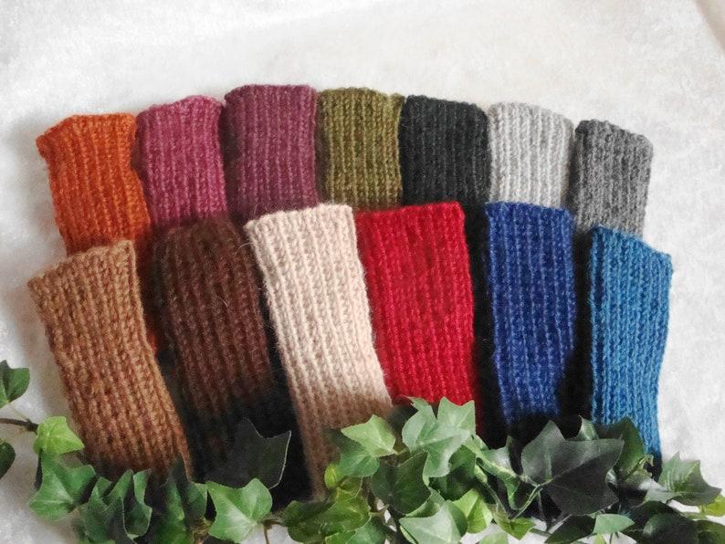 Baby tulips leg warmers 100/% alpaca wool malven-colored