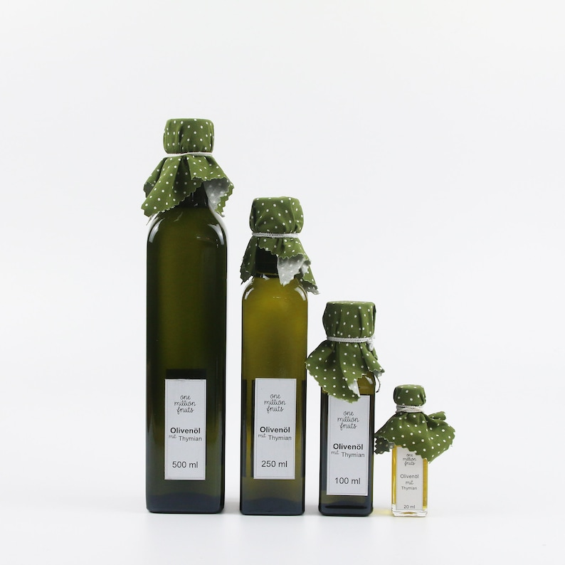 Olive oil with thyme 20 ml/100 ml/250 ml/500 ml/1 litre