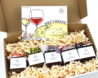 Say cheese Tasting package Gift box 5 x 50 g hearty fruit spread to cheese
