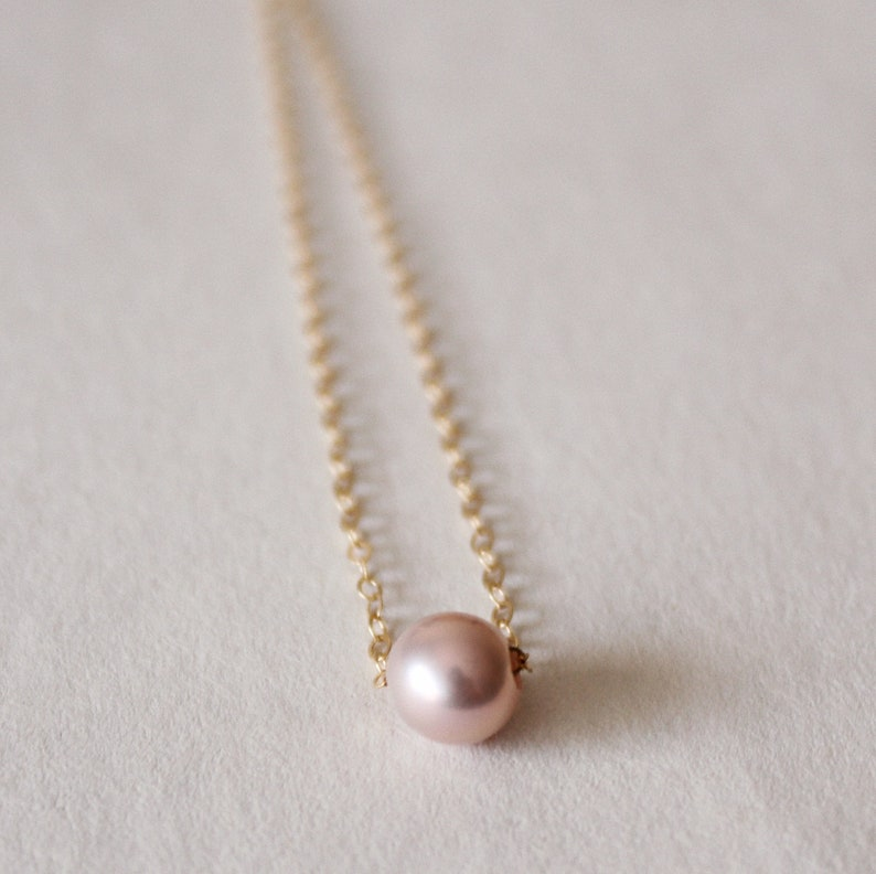 48157a9790094 MAIA // Dainty 7mm Floating Edison Pearl Necklace