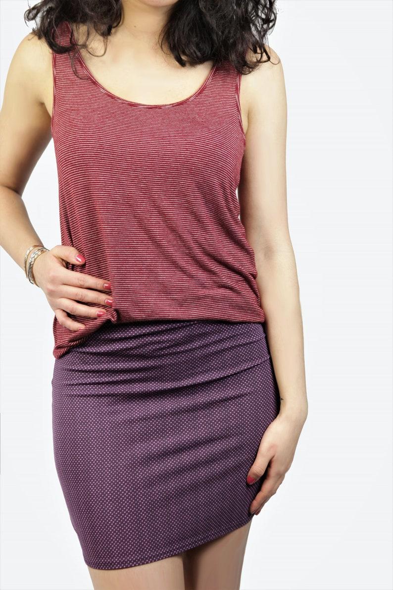 pink dots Organic skirt Snoba purple