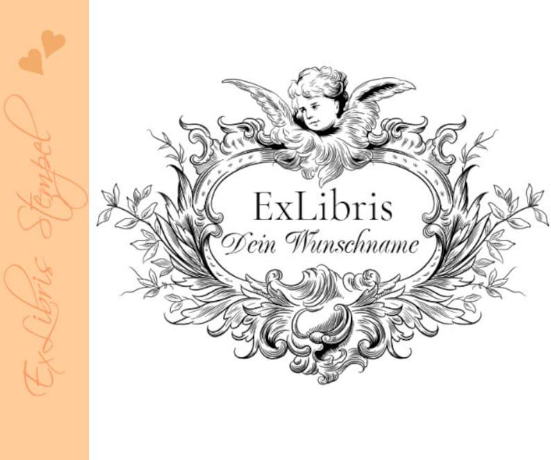 Exlibris Stamp  Ex Libris Stamp  Classic Exlibris Stamp  image 0