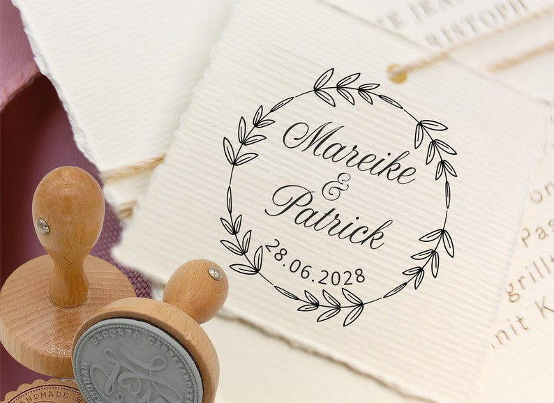 Wedding stamp personalized  personalized stamp for wedding image 0