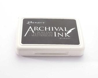 Ranger Archival Ink Stamp Pad - Jet Black · Black