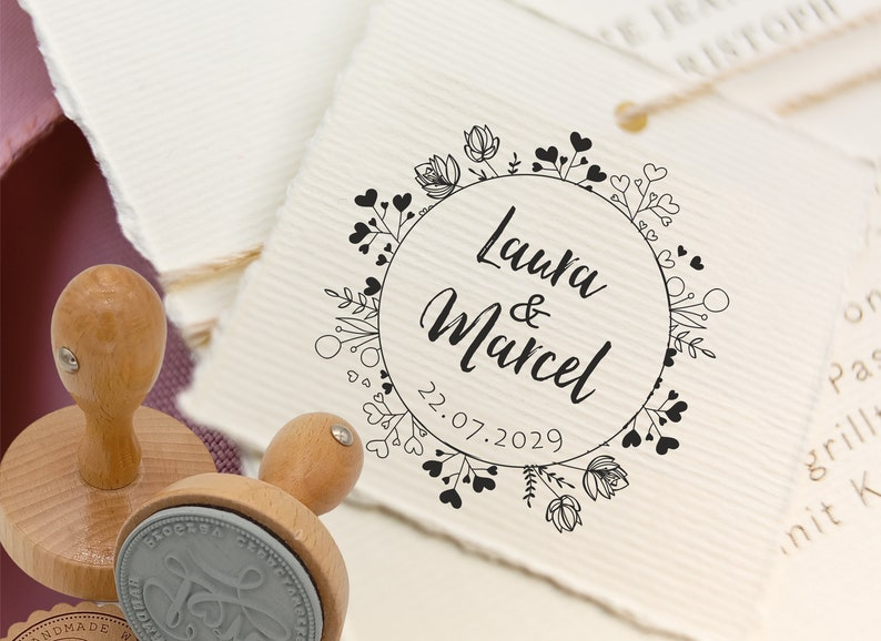 Wedding stamp personalized  personal stamp for wedding image 0