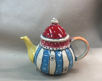 Pot Teapot Ceramic Handmade Design Unique