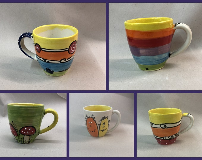 Jumbo cup XL cup tea mug approx. 500 ml ceramic in many patterns