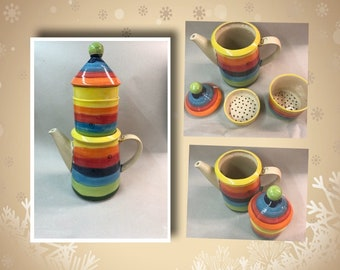 Pot with coffee filter Granny's coffee maker ceramic 1.5 liters