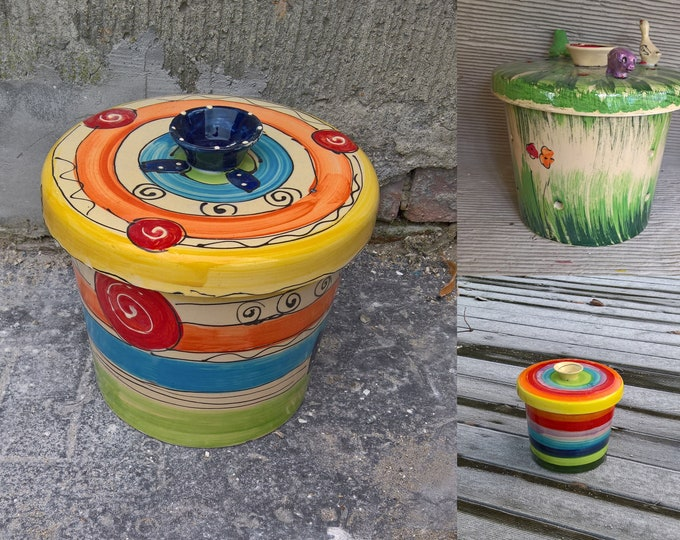 """Potato pot can for potatoes for approx. 3 Kg """"ROM III"""" ceramics in many patterns"""