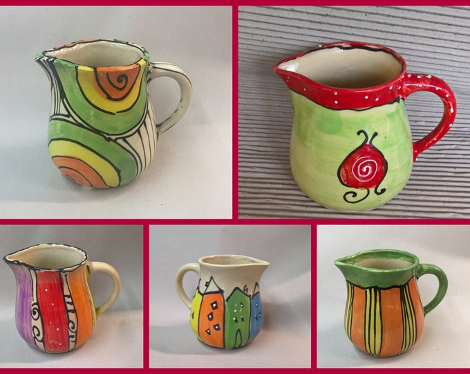 "Jug vase spoon holder "" TOM "" 0.75 liters ceramic in many colors"