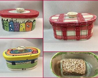 small oval bread pot for singles bread box bread box ceramic in different colors