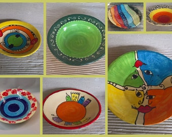 Pastateller soup plate deep plate ceramic in many patterns