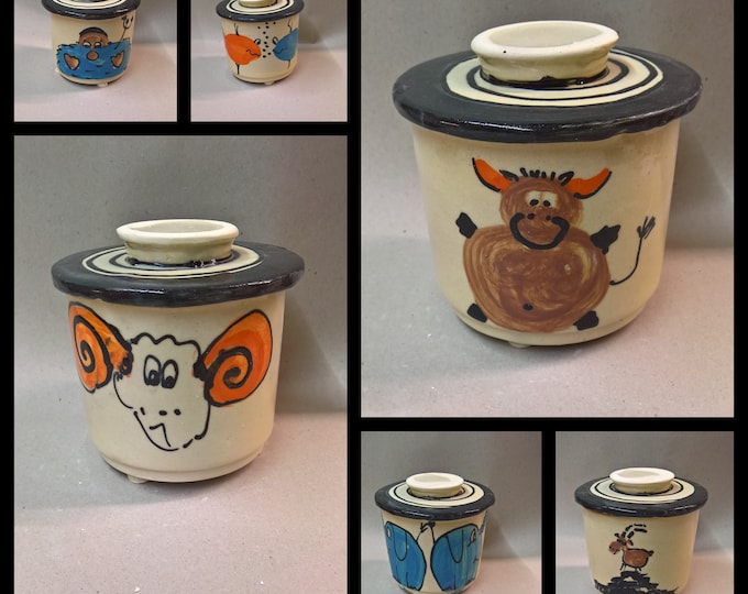 French water butter can for 250g with zodiac sign fish capricorn twin stier ram Aquarius
