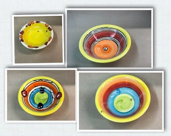 Cereal bowl bowl dessert bowl with small edge ceramic in colorful