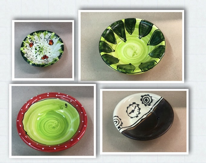 Muesli bowl bowl dessert bowl with small edge ceramic in green