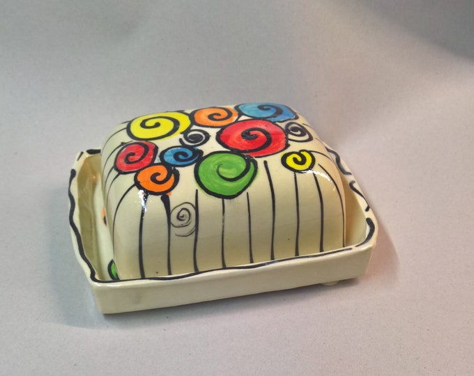 Butter tin ceramic for 250g butter in tayona