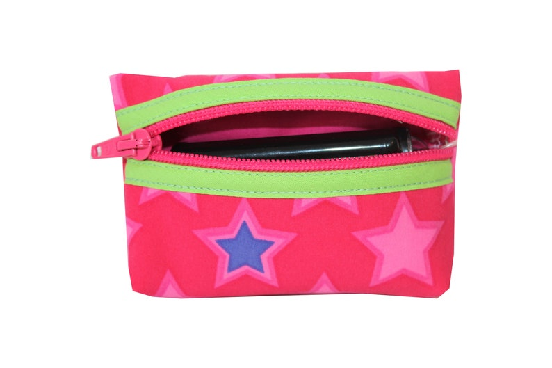 Pump bag softshell stars on pink