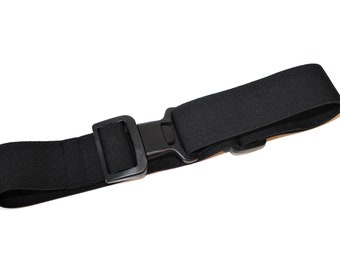 Belt, rubber belt, pump bag, belt for pump bags, pump pocket belt, black