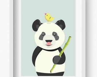 Bilder Kinderzimmer Poster Kinderbild Ben Bambus