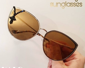 The Gilded Sacrilege sunglasses, limited edition customized sunnies by HALO by Viveka Gren