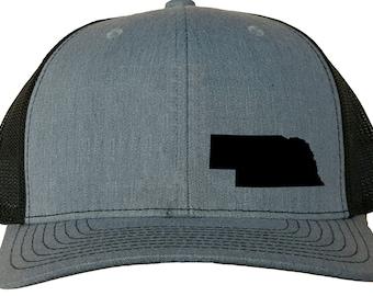 dc092be46e2 Nebraska Snapback Hat -Grey Black