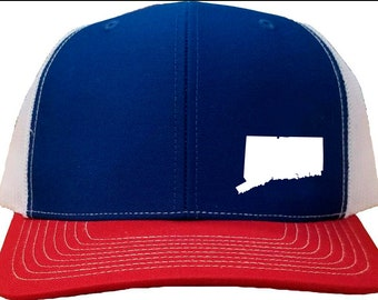 Connecticut Snapback Hat - Blue White Red 729ec8637a19