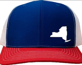 bcdbf721cae New York Snapback Hat -Blue White Red