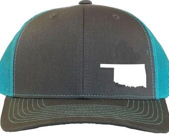3fca3419dcf Oklahoma State Snapback Hat - Grey Aqua