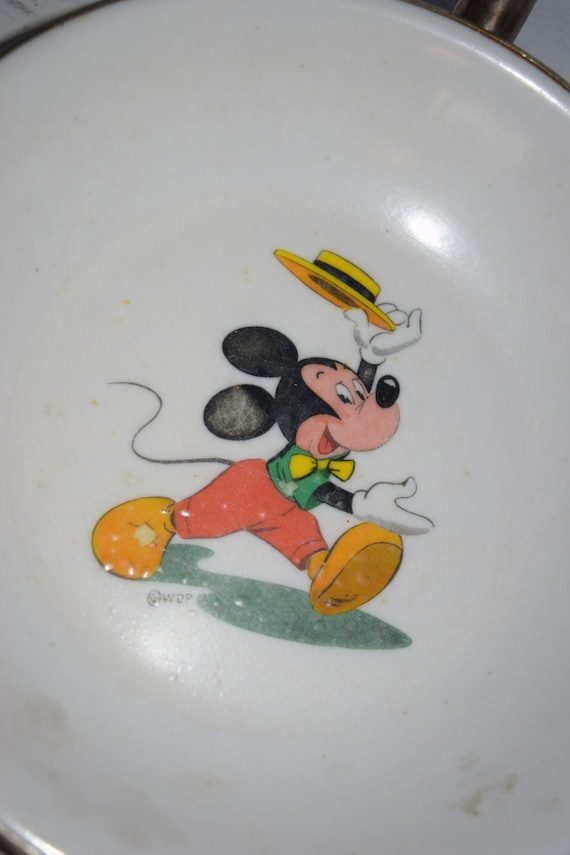 Vintage Mickey Mouse Warm Retainer Plate