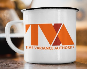 """Enamel Cup """"TVA - Time Variance Authority"""""""
