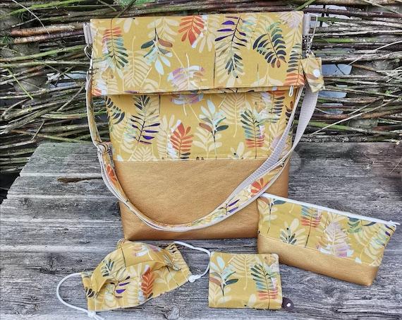 Shoulder bag / handbag / cosmetic bag / purse / makeshift mask / unique / shoulder bag / bag / faux leather / mouth cover