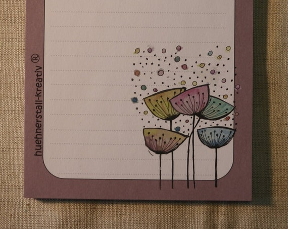 Notepad Din A6/Pusteblume/Writing Block/Illustration/Print