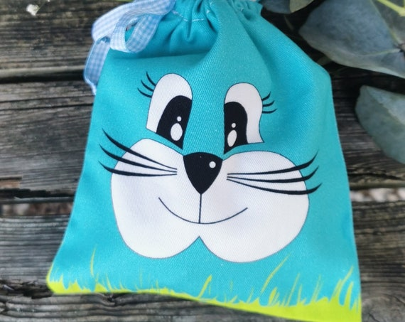 Gift bag / bunnies / pouch / Easter / gift / Easter bag / Easter basket / bag / basket / bunny ears / cotton / reusable