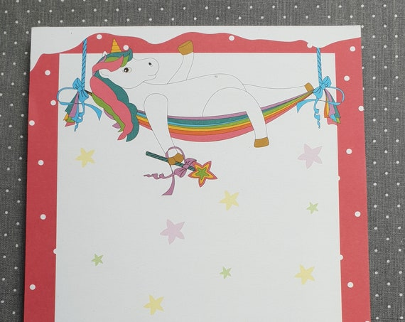 Notepad Din A5/casual unicorn/linked/writing block/illustration/print