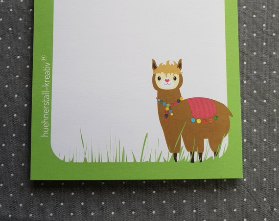 Notepad Din A6/Alpaca/Limited Edition/Illustration/Print