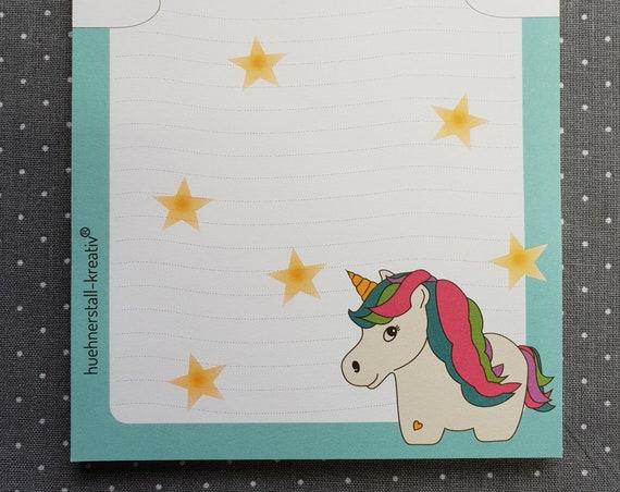 Notepad Din A6/squirrel/unicorn/writing block/illustration/print