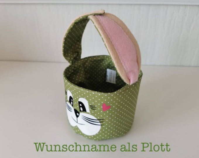 Easter basket / Easter basket / bunny basket / basket / bag / Easter / gift / children / Easter nest / green / with name