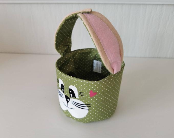 Easter basket / Easter basket / bunny basket / basket / bag / Easter / gift / children / Easter nest / green